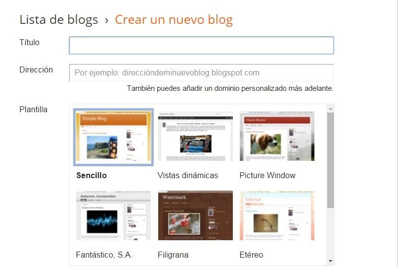 Plantillas blog