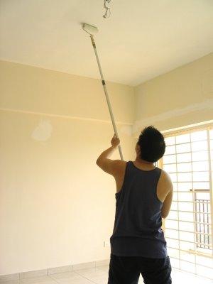 Decoraci n c mo pintar un techo - Como pintar paredes y techos ...