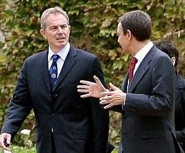 Blair and Zapatero in Madrid