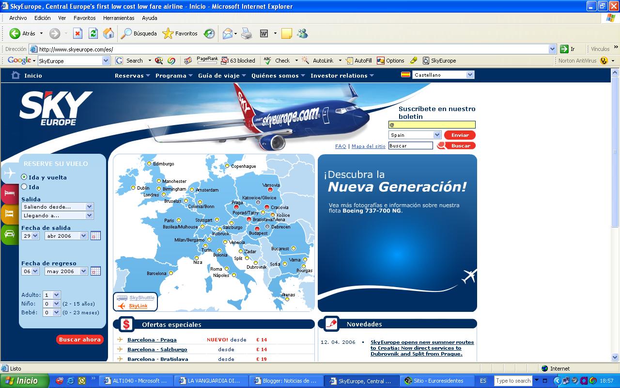 vuelos baratos desde barcelona a europa central volar