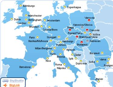 cheap flights link Barcelona to Central Europe