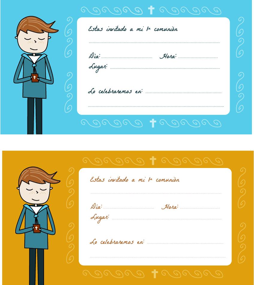 Descargar tarjetas de comunión para niño (jpg)