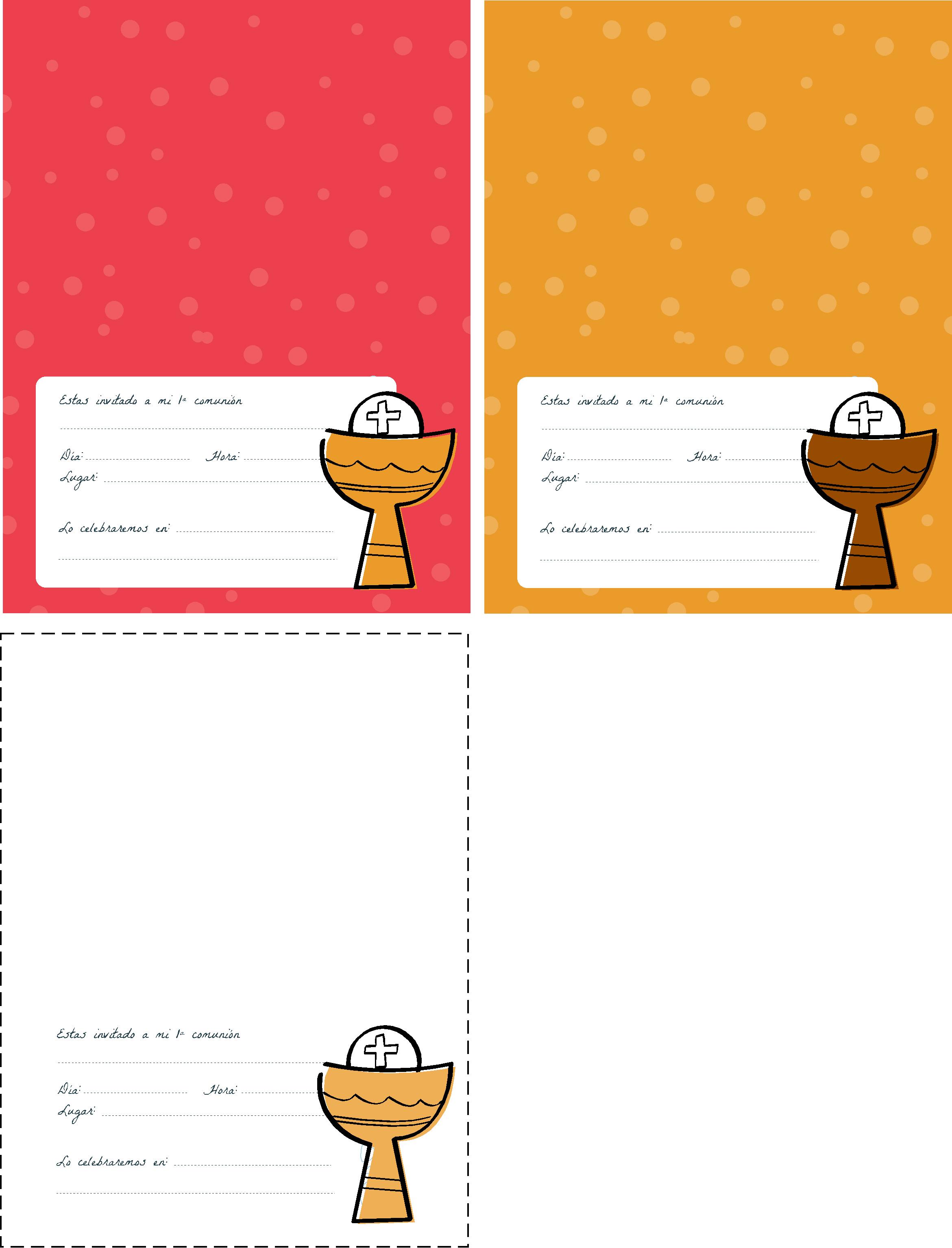 de comunión con foto (formato .pdf) Invitaciones de comunión ...