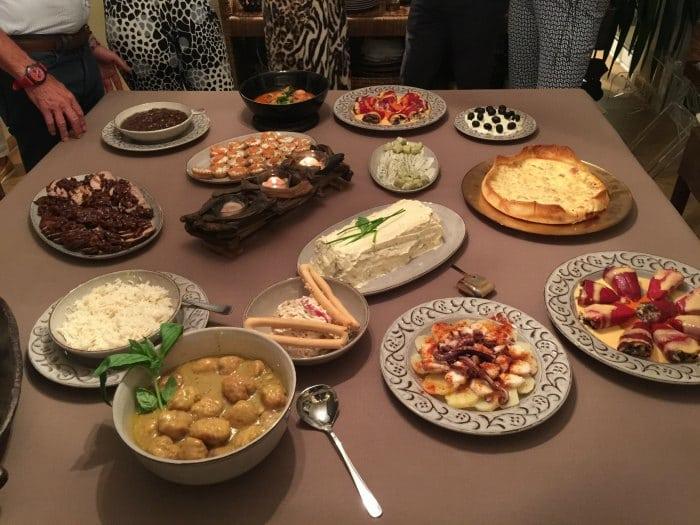 Comidas de ipo bufet para grupos en madrid