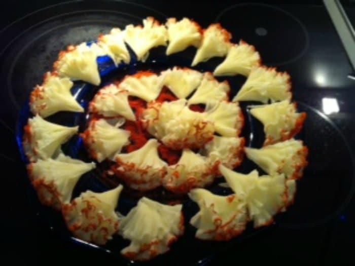 Flores de queso de Tête de Moine