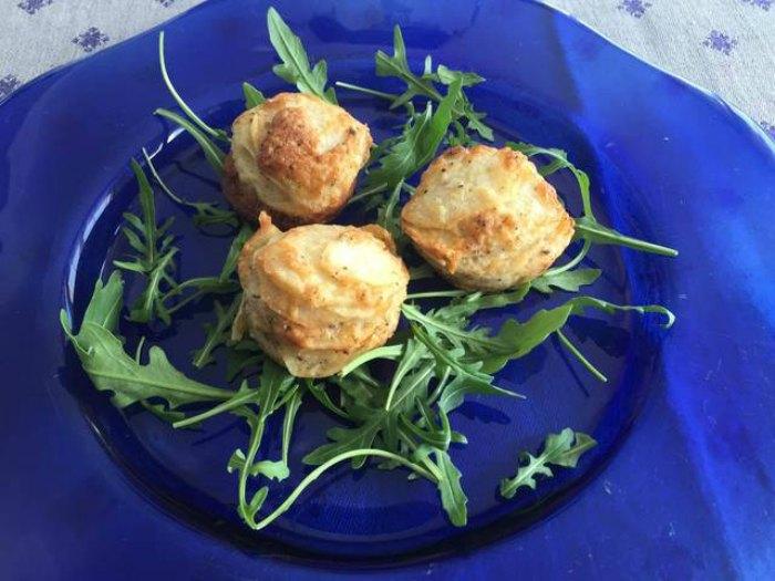 Nidos de patata con Parmesano y huevo