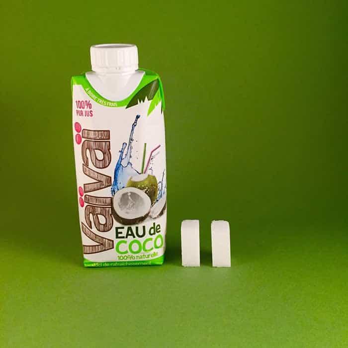 Azúcar que contiene el agua de coco