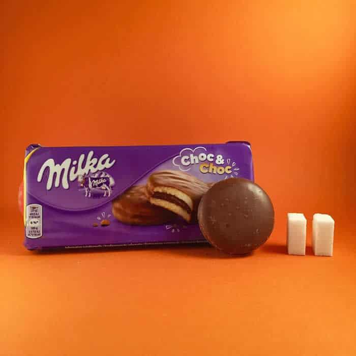 Azúcar que contiene una galleta milka