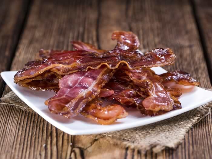 Cocinar bacon crujiente en el microondas