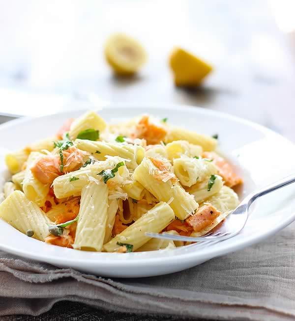 Comer en el trabajo: Pasta con salmón
