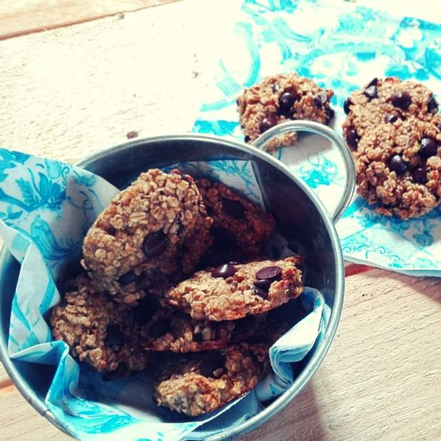 Galletas de avena y chocolate veganas