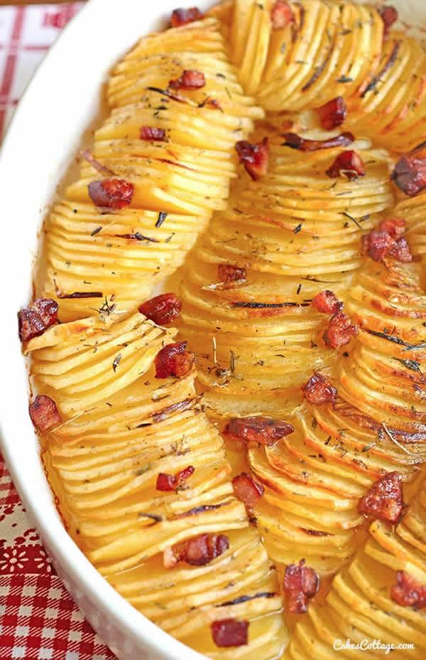Patatas asadas con bacon
