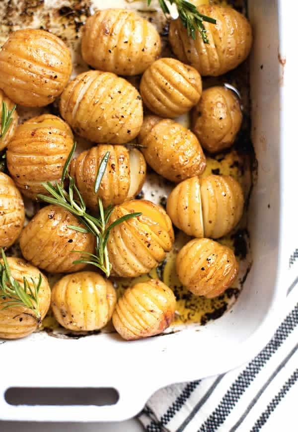 Patatas asadas con limón