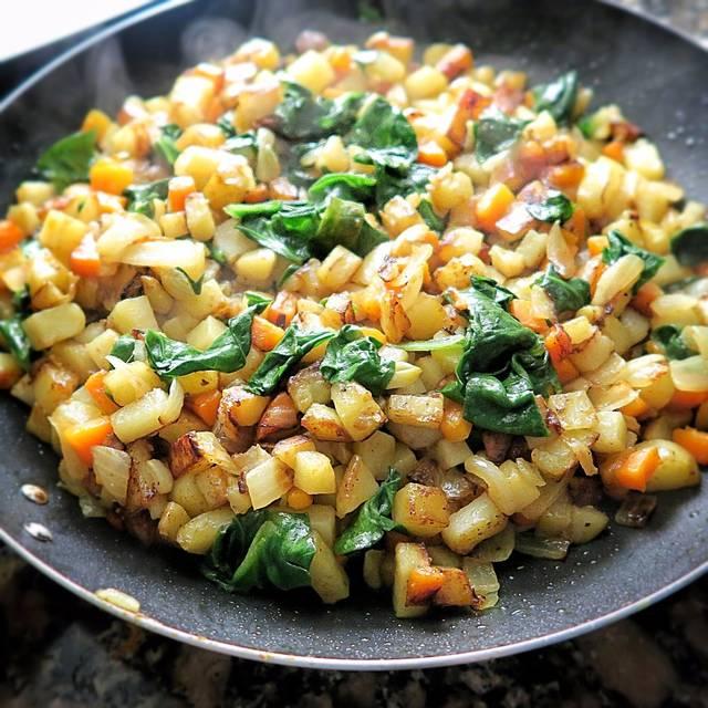 Recetas veganas: patatas con verdura al curry