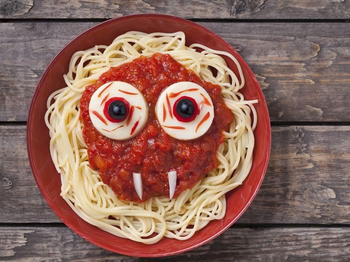 recetas Halloween pasta