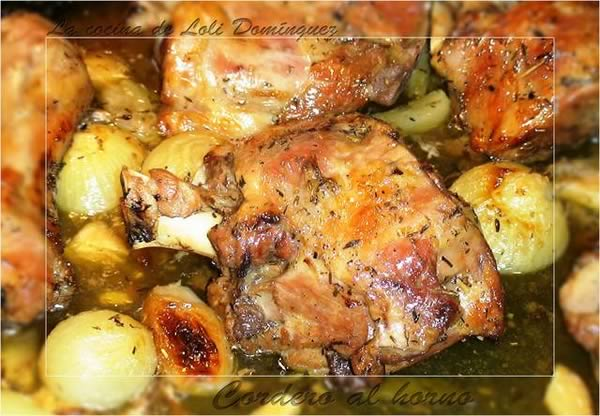 Carnes Navidad: cordero al horno