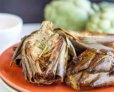 recetas verduras para Navidad: alcachofas al horno