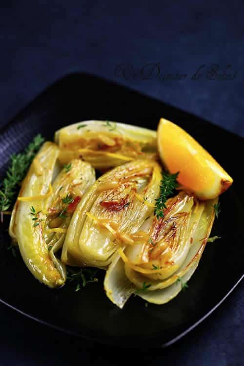Recetas verduras Navidad: endibias a la naranja