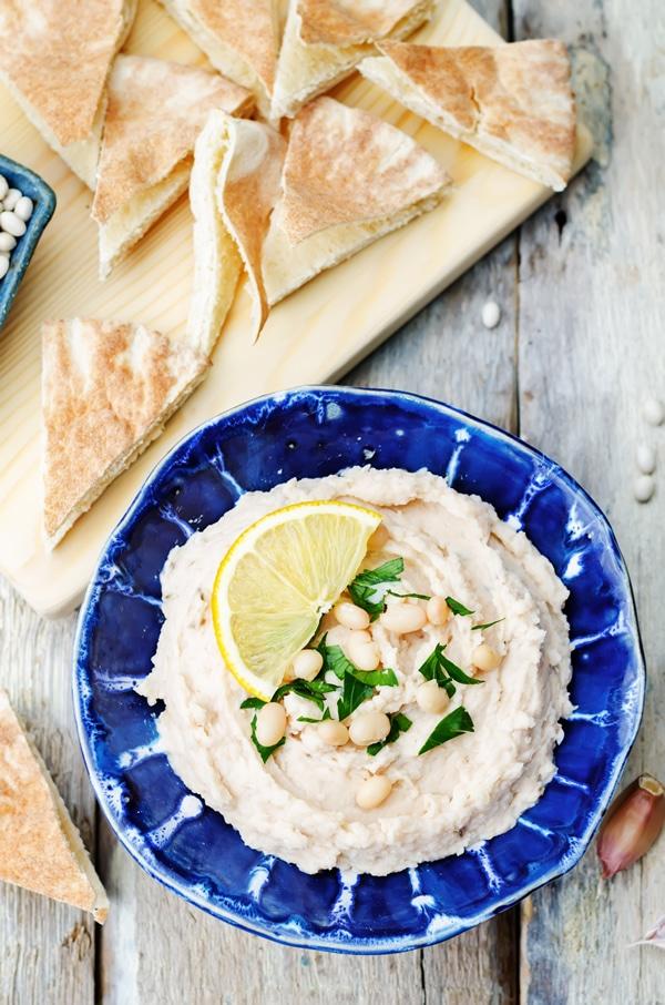 Recetas de Hummus: hummus de judías blancas