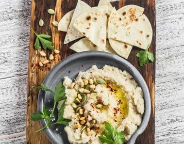 Recetas de humus: humus de coliflor