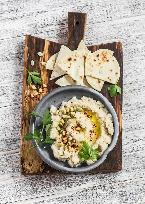 Recetas de hummus: hummus de coliflor