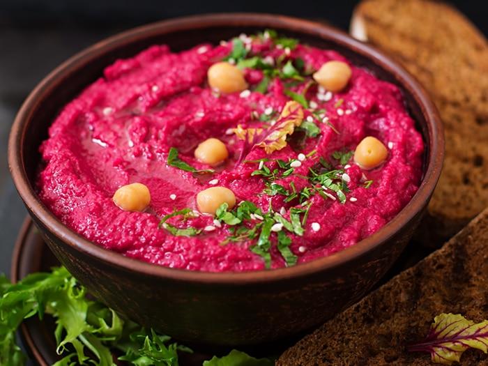 Recetas de hummus: hummus de remolacha