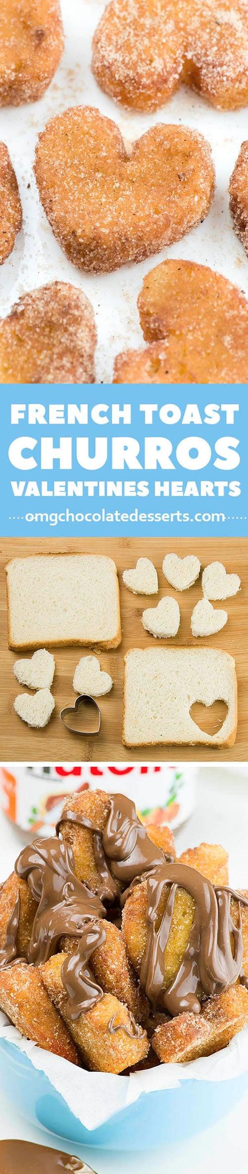 Comidas con forma de corazón: tostadas francesas