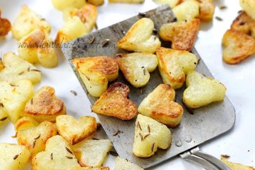 Comida con forma de corazón: patatas