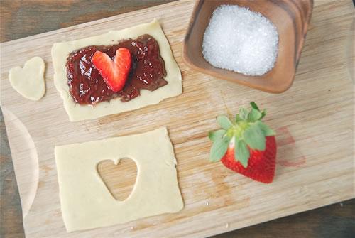 comidas-forma-corazon-hojaldre-nutella
