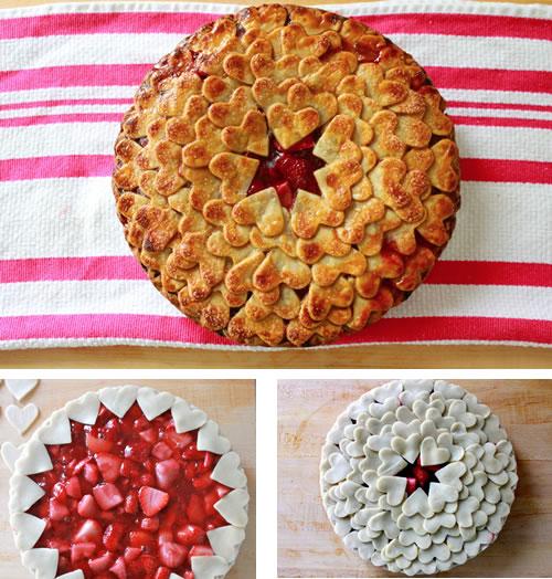Comidas con forma de corazón: pastel de hojaldre