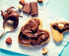Comida con forma de corazón