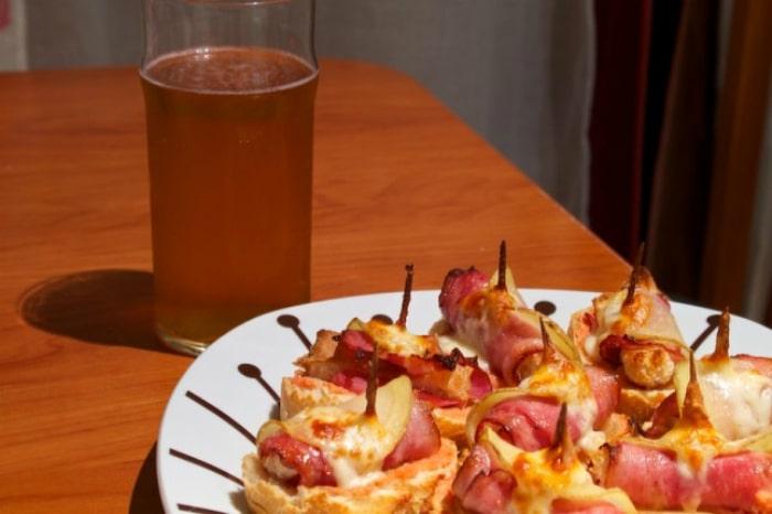 tapa bacon queso y patata