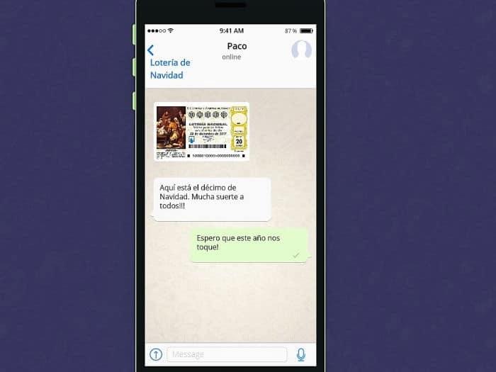Compartir lotería por WhatsApp precauciones
