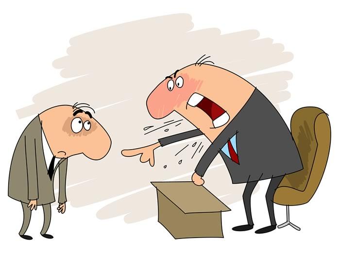qué hacer cuando su jefe le grita