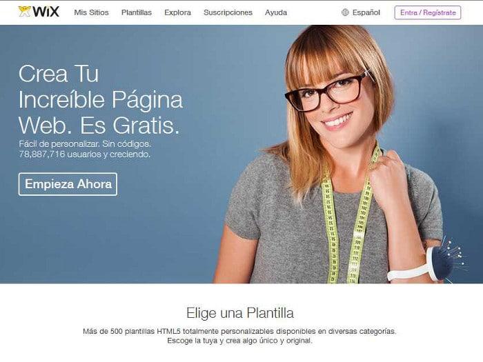 Herramientas - Wix, para crear páginas web
