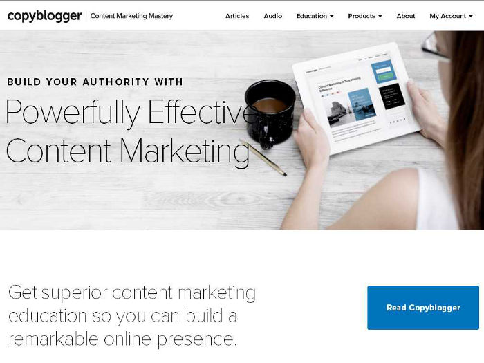 Blog de marketing de contenidos Copyblogger