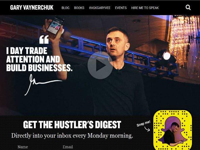 Blog de Gary Vaynerchuk para emprendedores