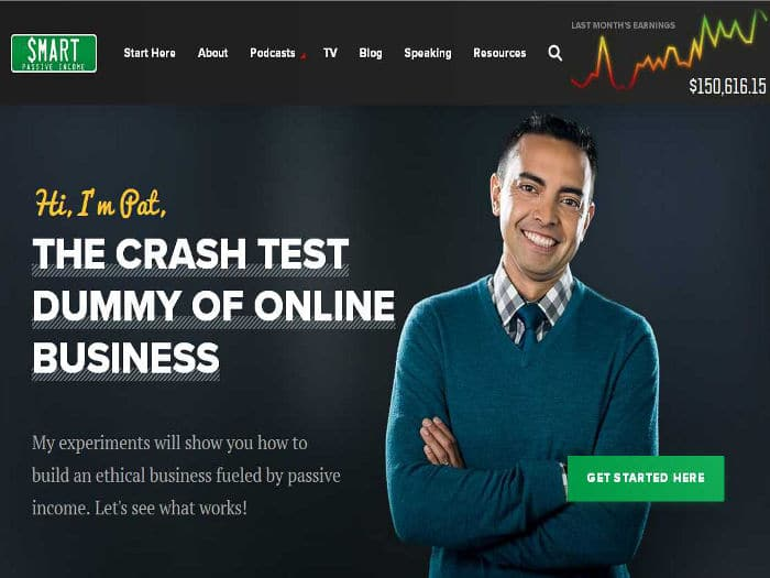 Blog Smart Passive Income para emprendedores, de Pat Flynn