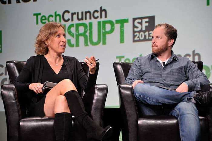 Susan Wojcicki y David Prager en TechCrunch Disrupt SF 2013