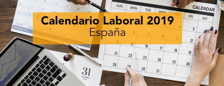 Calendario Laboral Bilbao.Calendario Laboral 2019 Espana