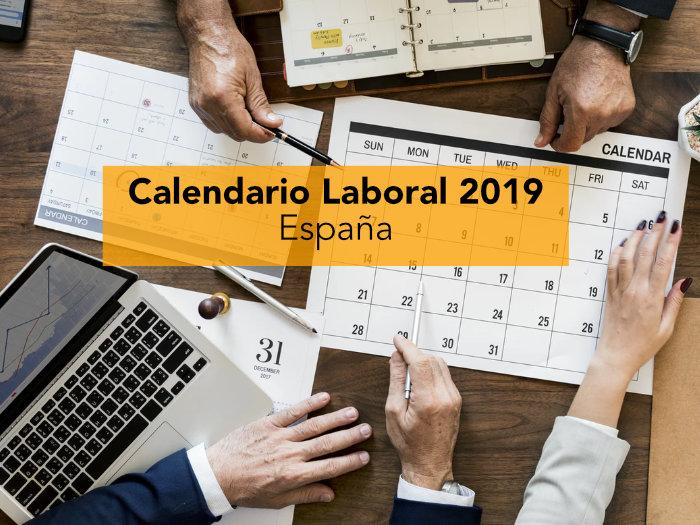Calendario Laboral 2019 Ciudad Real.Calendario Laboral 2019 Espana
