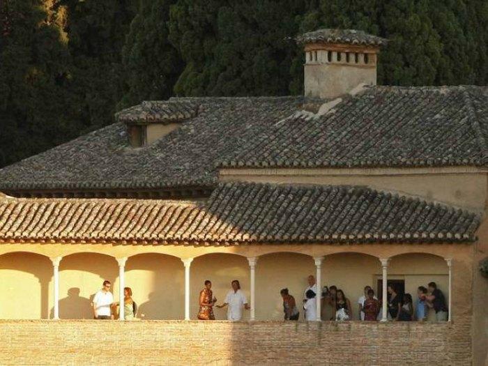Michelle Obama en la Alhambra de Granada