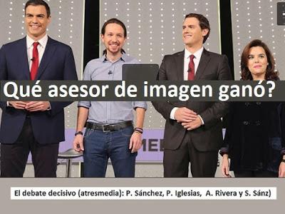 Pedro Sanchez, Pablo Iglesias, Albert Rivera, Soraya Sáenz