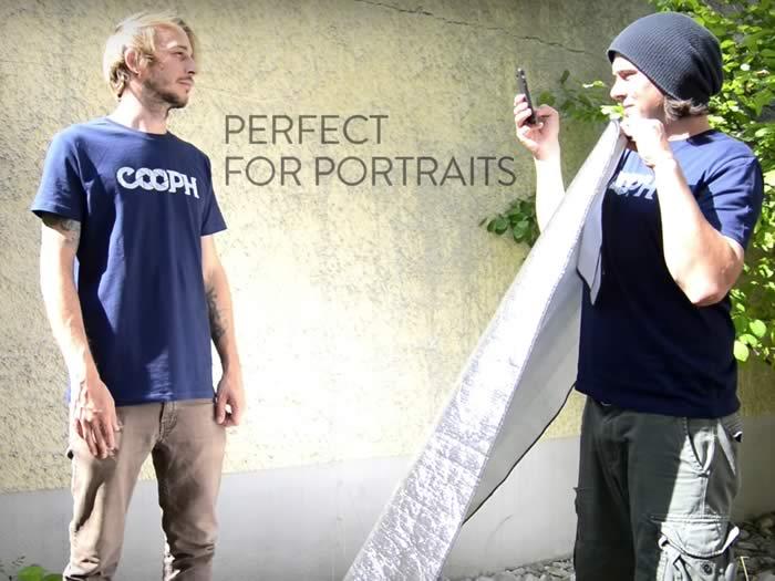 Usar reflector del coche para hacer retratos