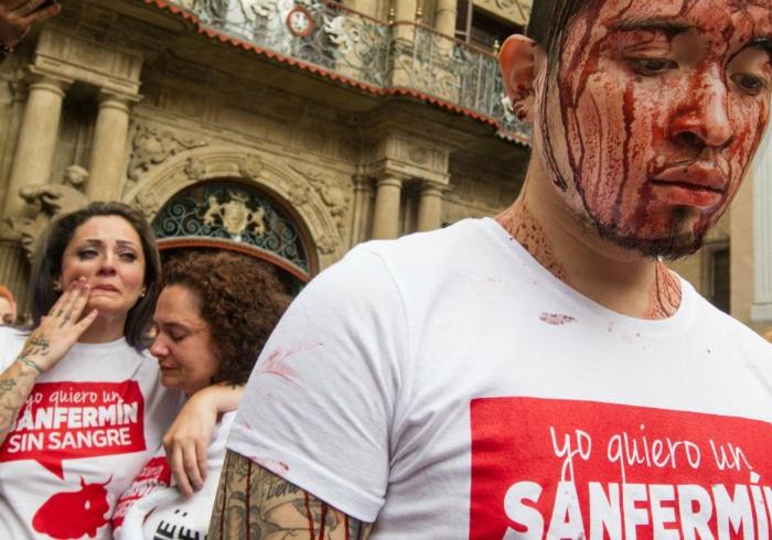 Manifestaciones contra Sanfermines