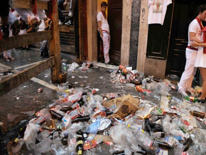Basura en San Fermín