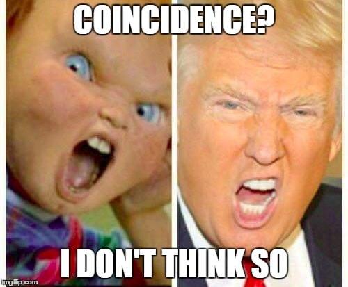 Meme chucky trump