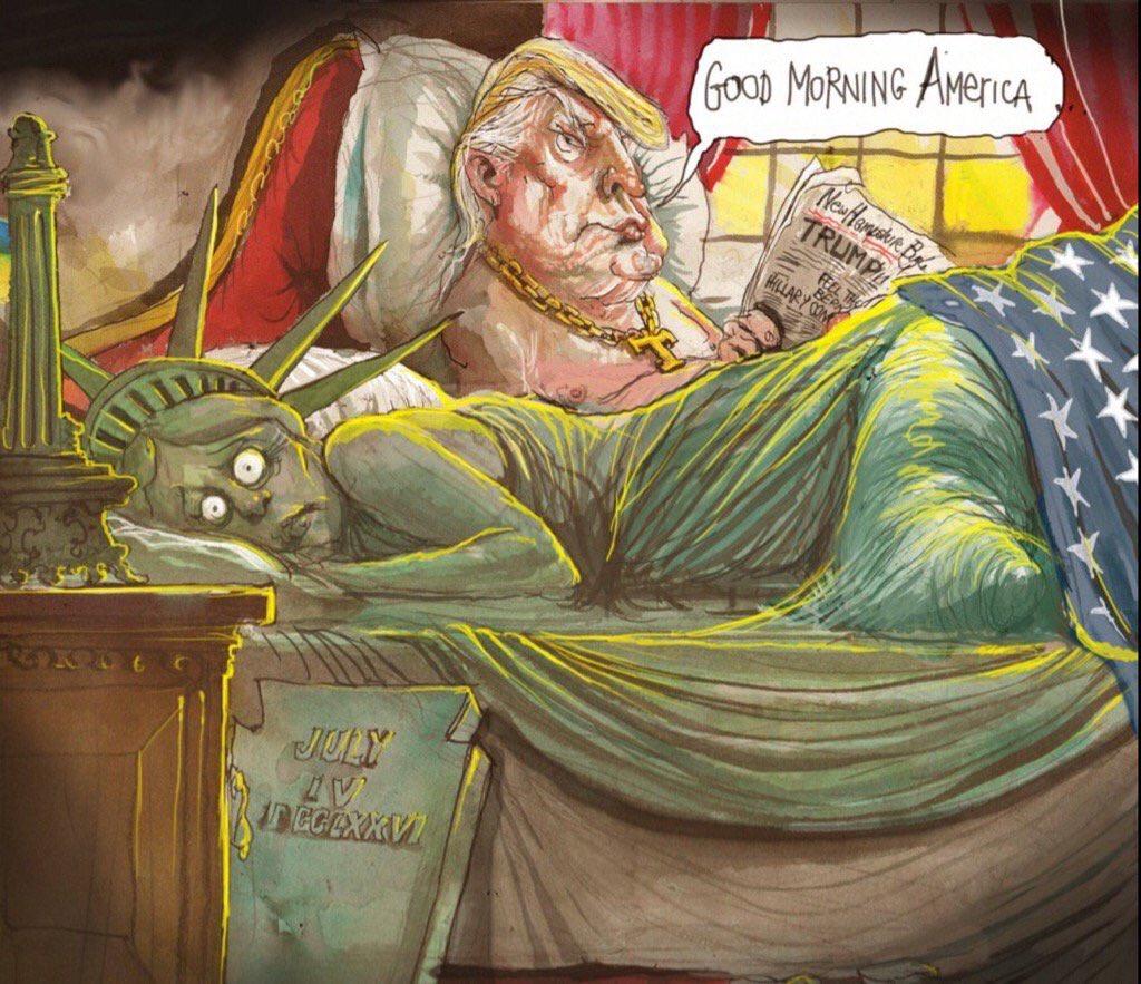 Meme Trump estatua libertad