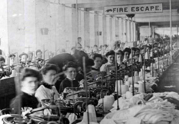 Trabajadoras de una fábrica de textil