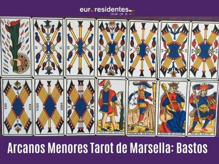 Arcanos Menores Tarot Marsella: Bastos
